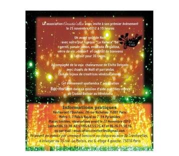 invitation diner creativelles nov 2012